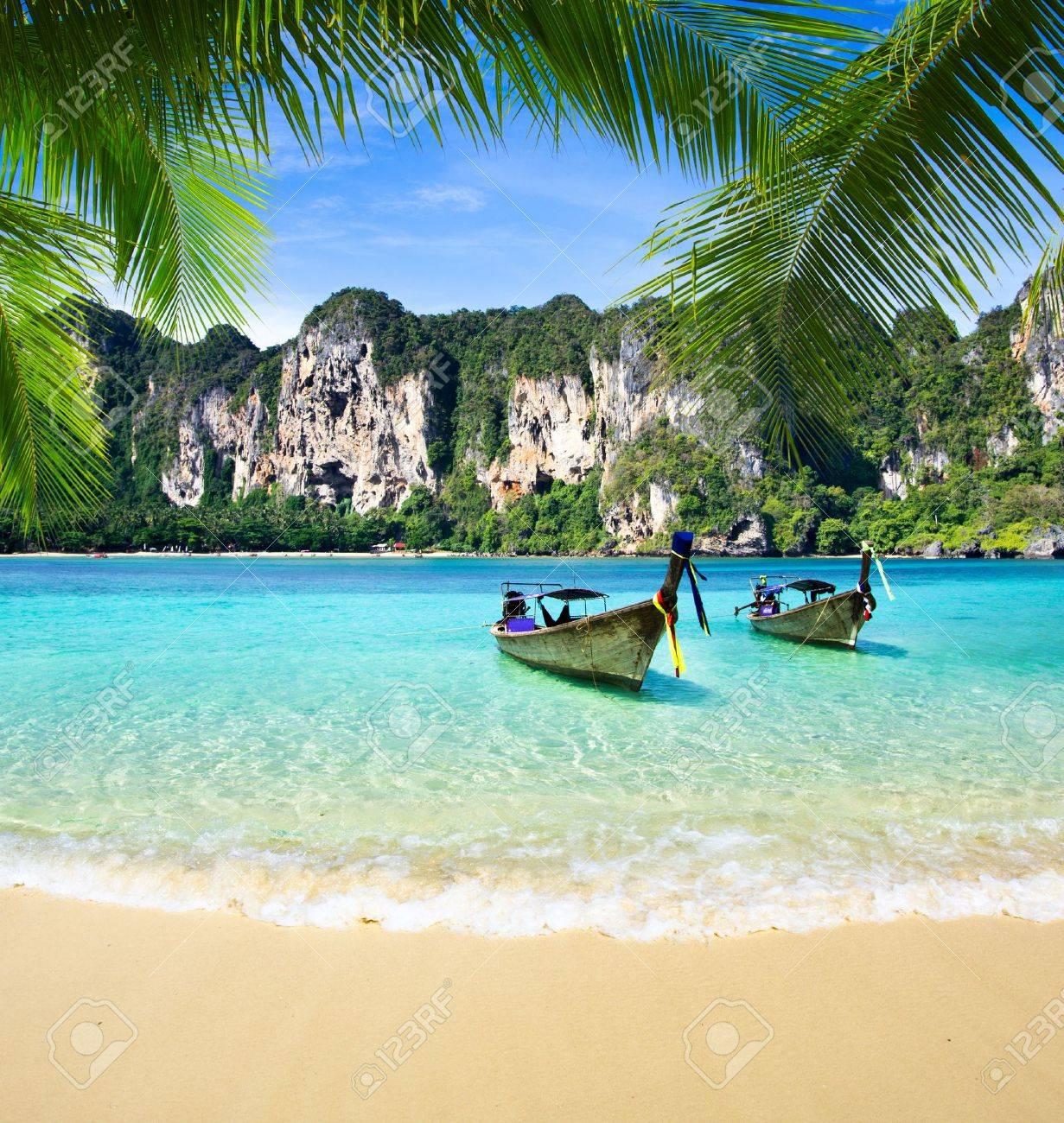 Tropical beach, Andaman Sea, Thailand Stock Photo - 17330816