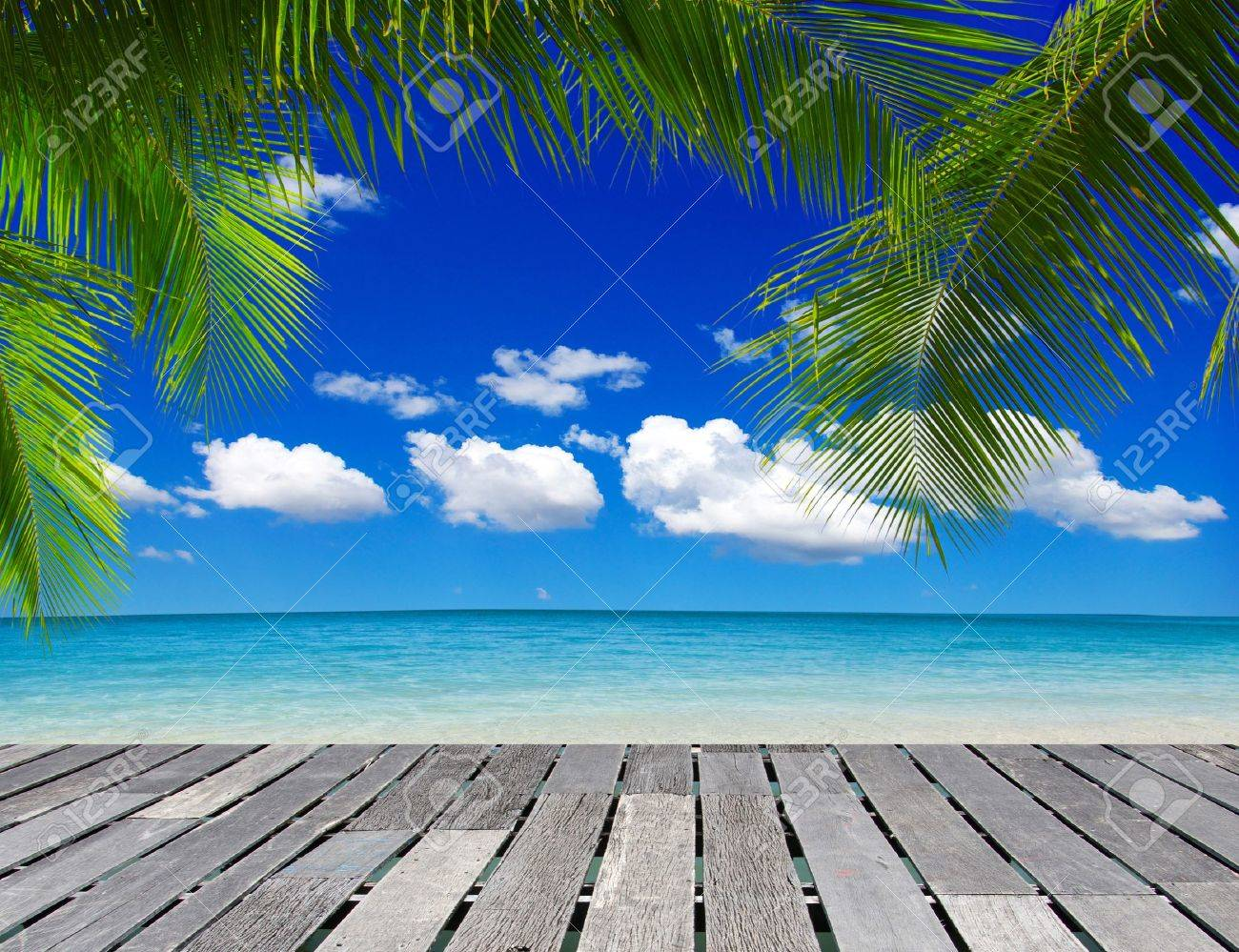 beautiful beach and tropical sea Stock Photo - 17655112