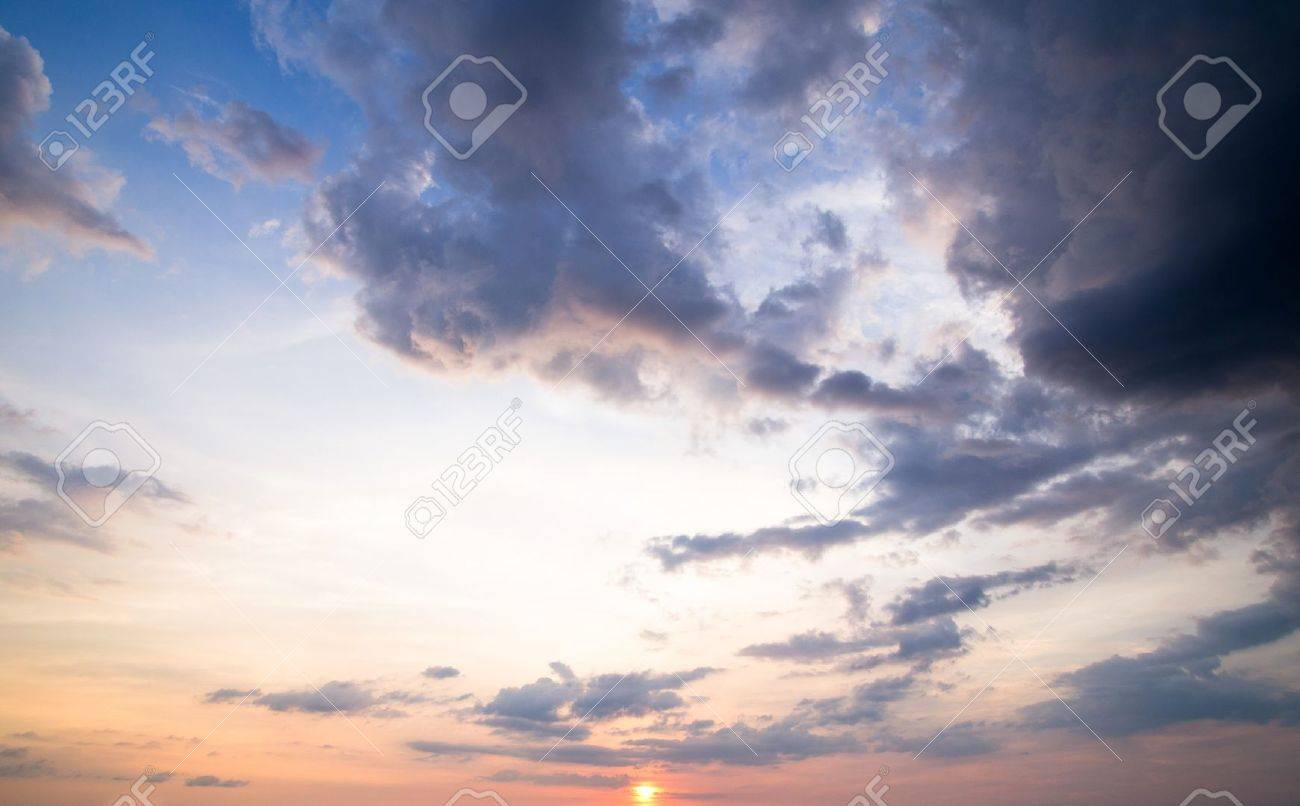 sky with clouds and sun Stock Photo - 18871037