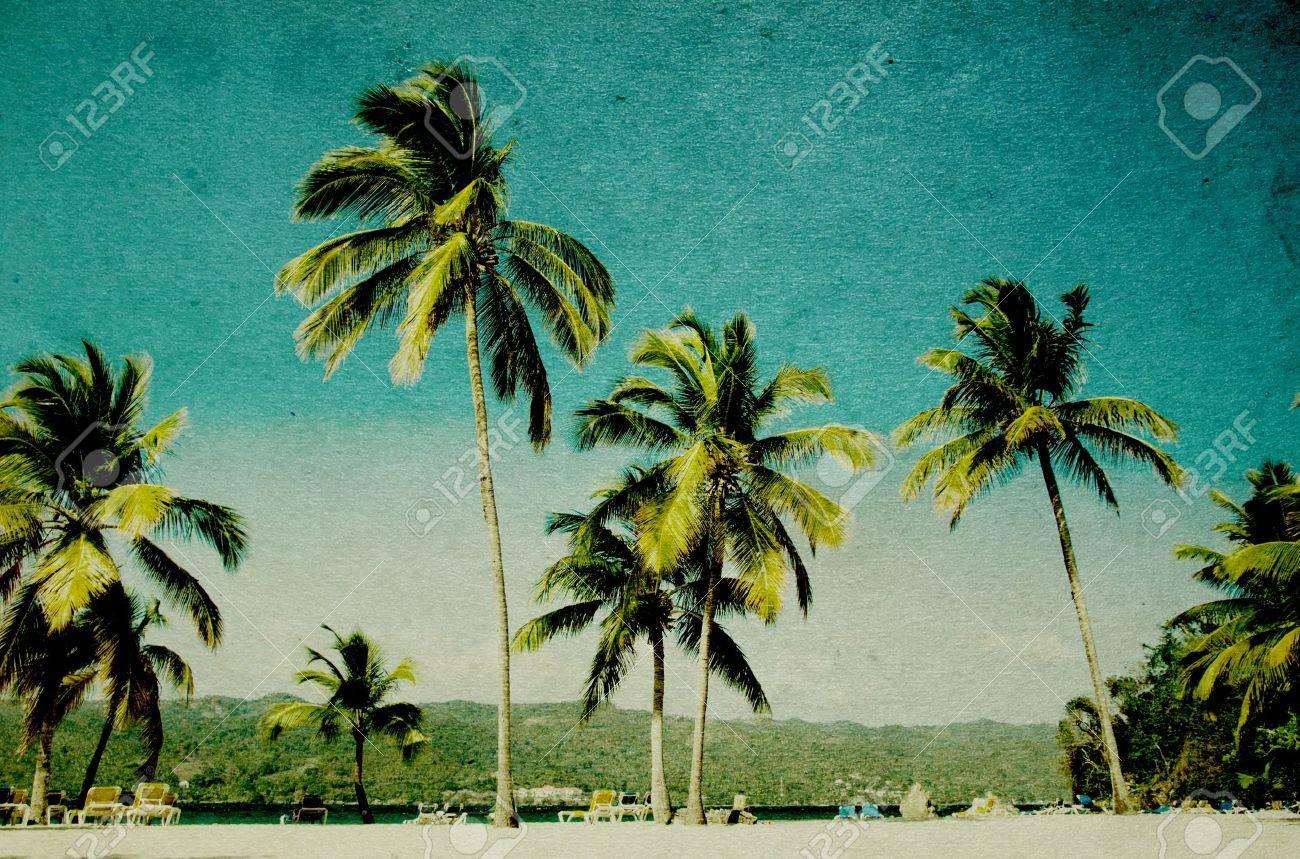 grunge image of tropical beach Stock Photo - 22071341