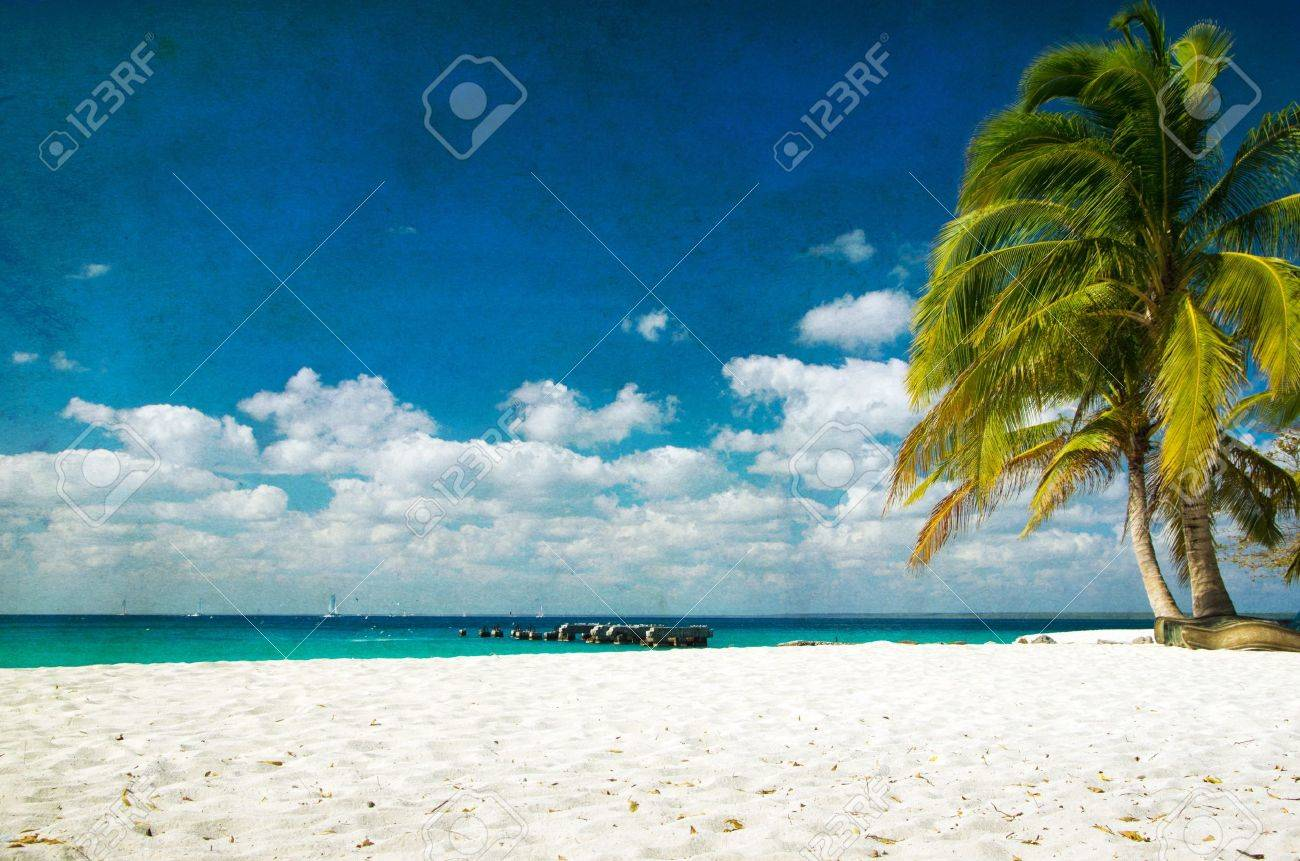 grunge image of tropical beach Stock Photo - 22117367