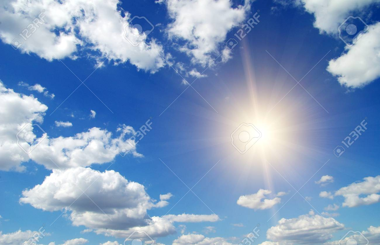 Blue sky background with a tiny clouds Stock Photo - 30279153