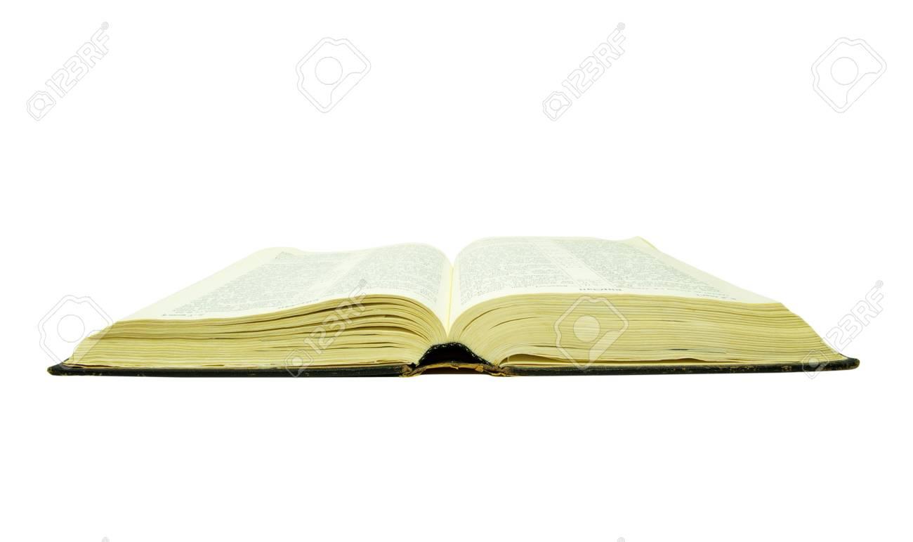 La Biblia Abierta Está Aislado En Un Fondo Blanco Fotos Retratos