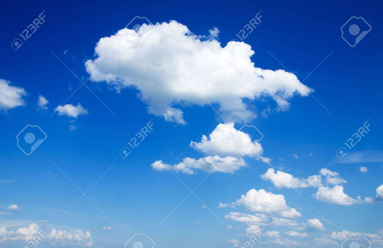 blue sky background with a tiny clouds Stock Photo - 32073813