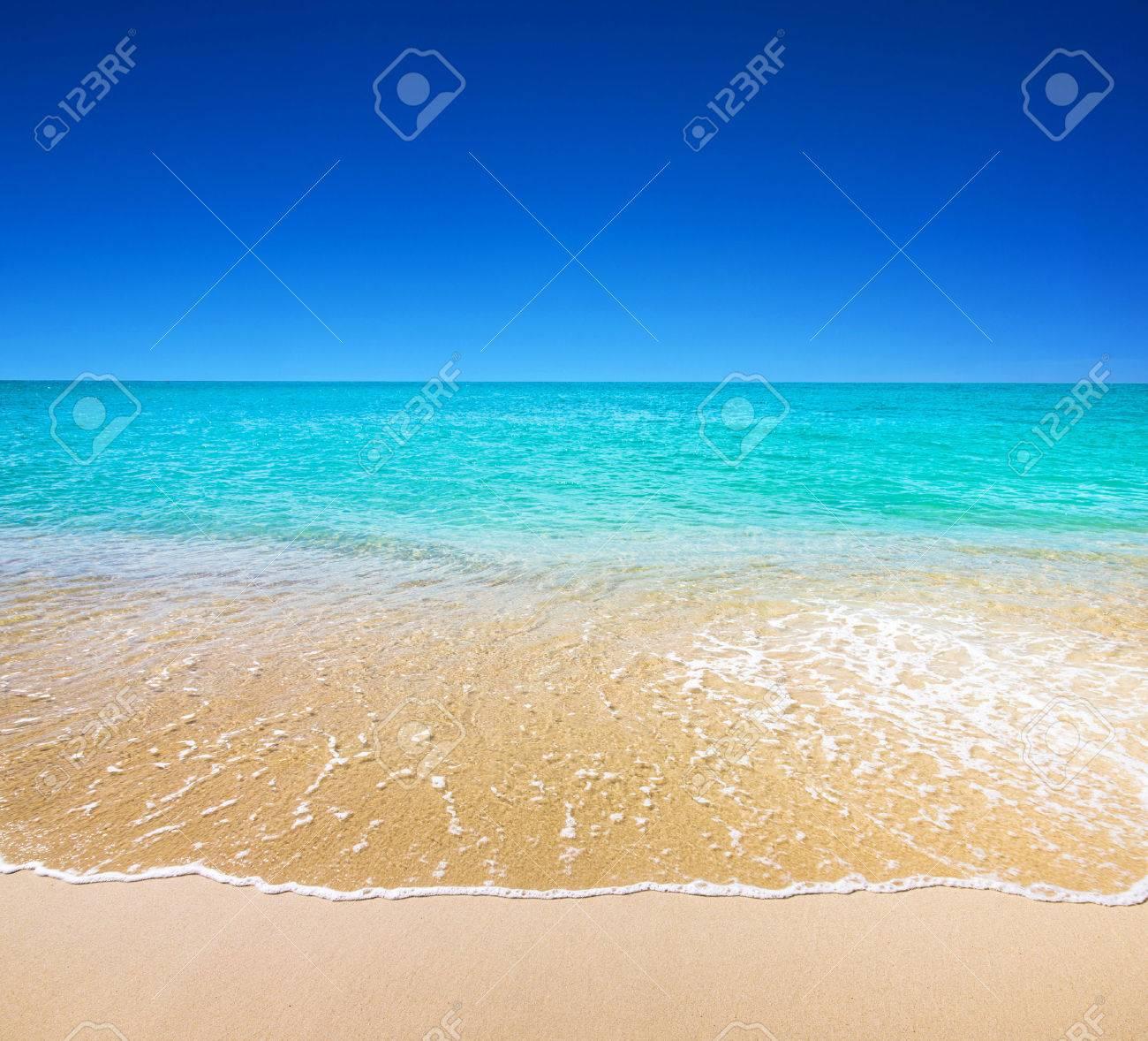 beautiful beach and tropical sea - 37008192
