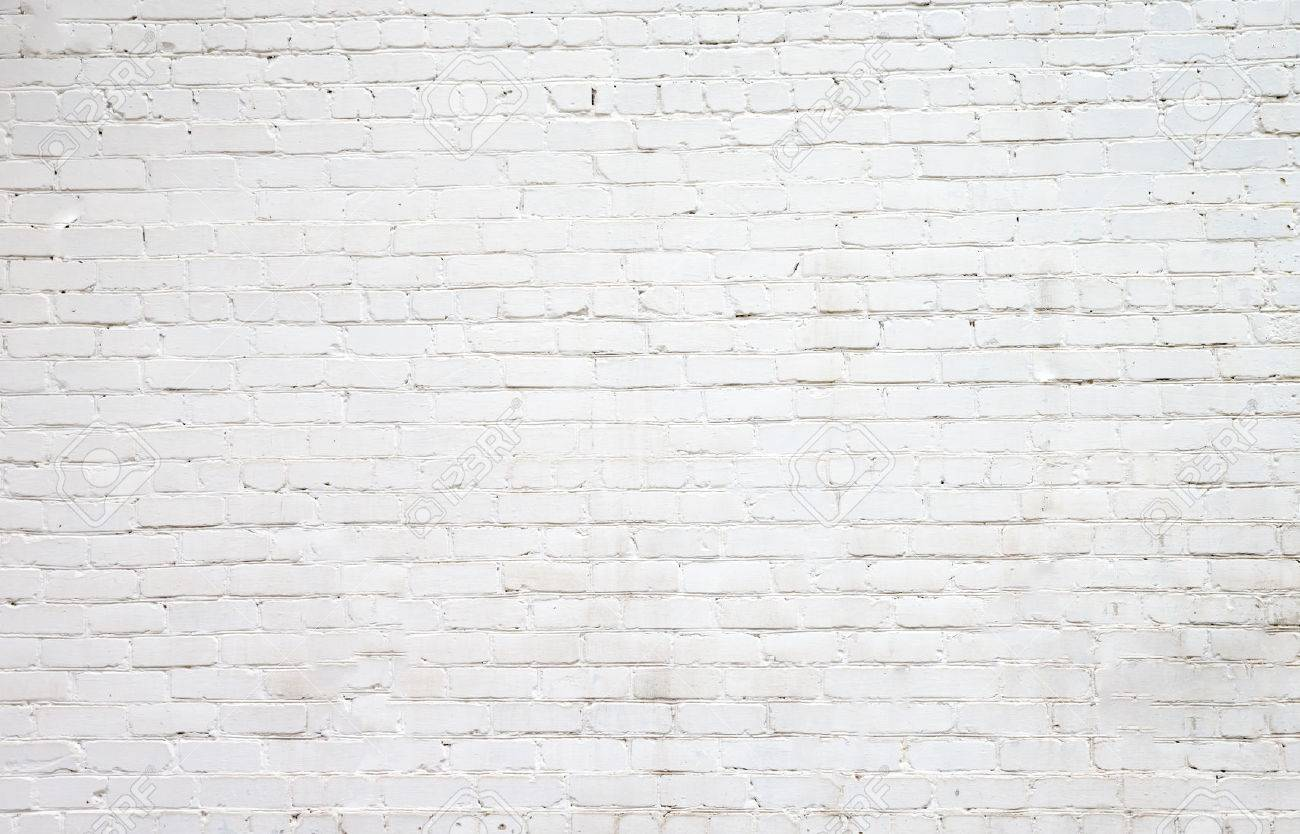 White brick wall for background or texture - 37194775