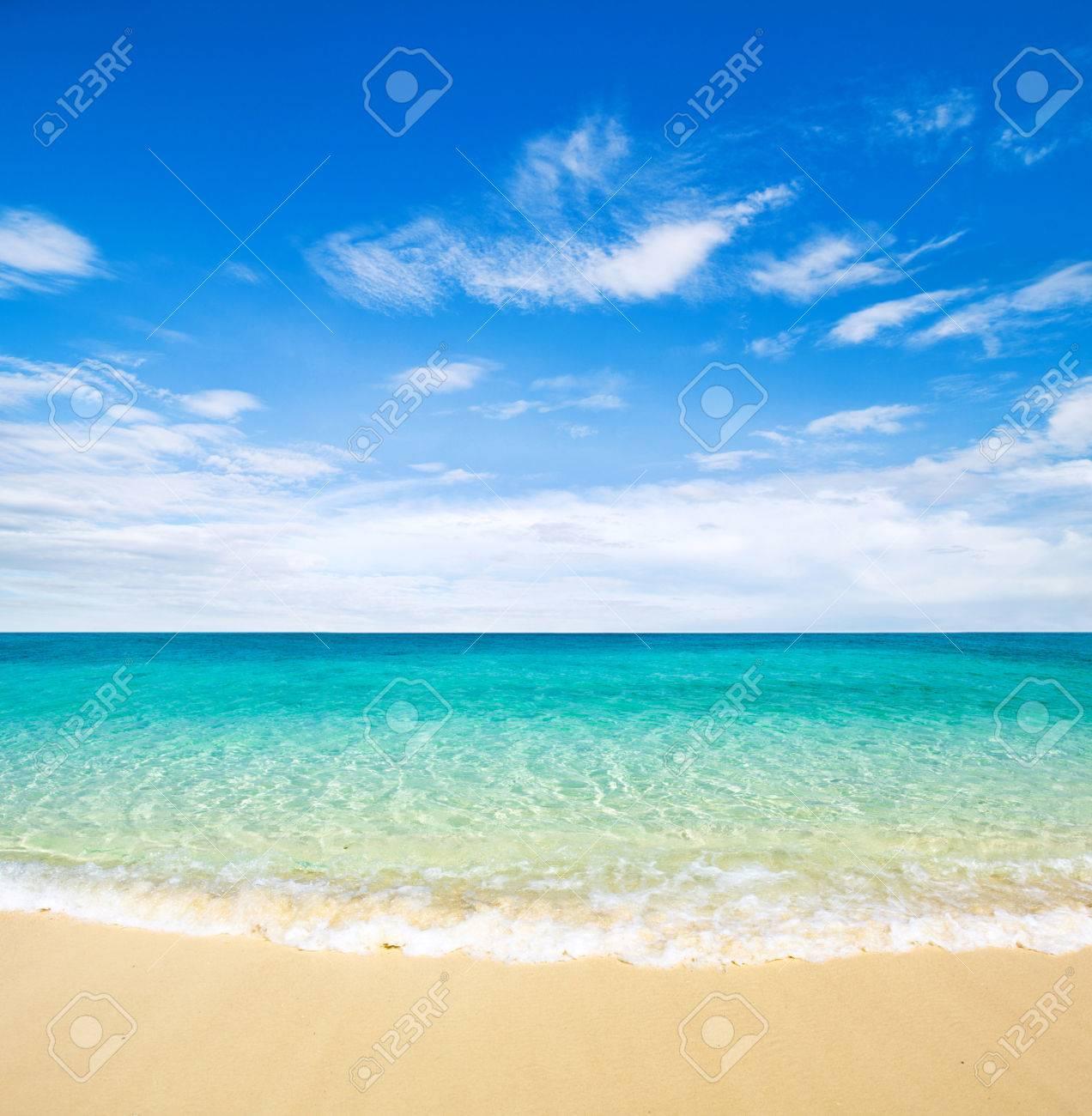 beautiful beach and tropical sea Stock Photo - 43716922