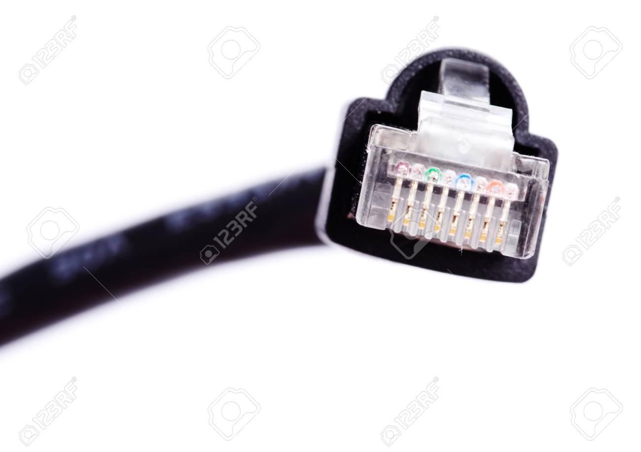 lan kabel und stecker auf weißem hintergrund lizenzfreie fotos