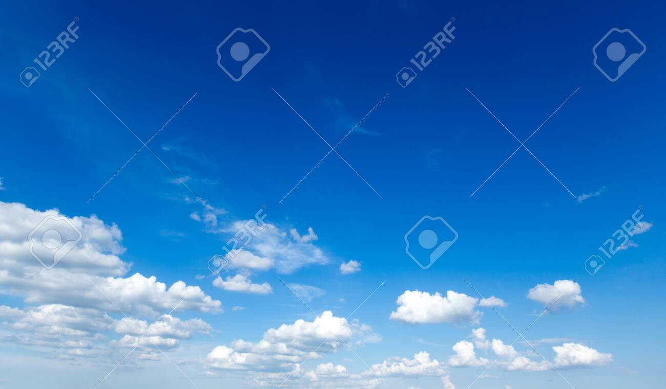 blue sky background with tiny clouds - 121204685