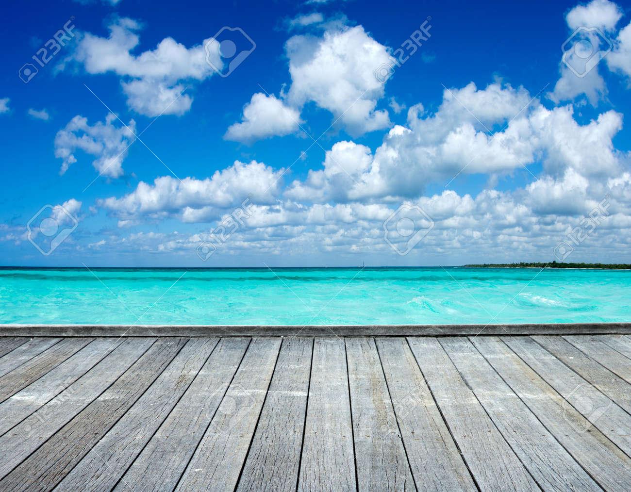 Caribbean sea beach and tropical sea - 134222941