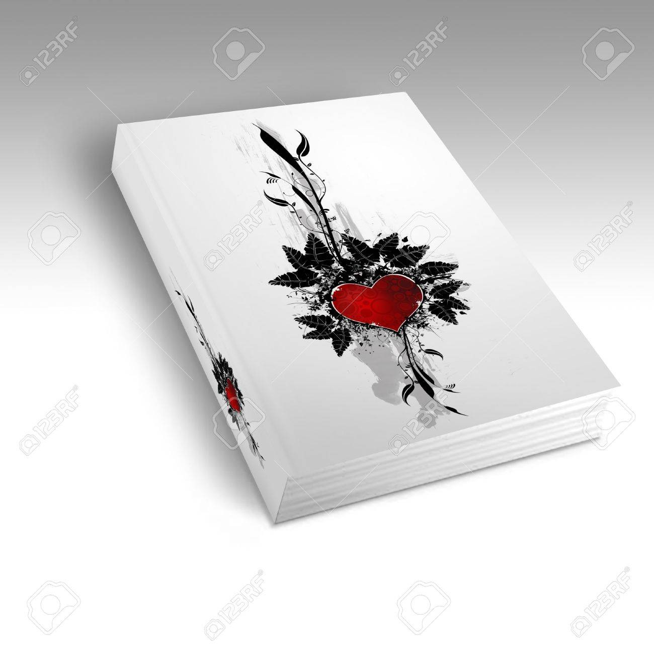 Book with a heart design on the front Stock Photo - 4116519