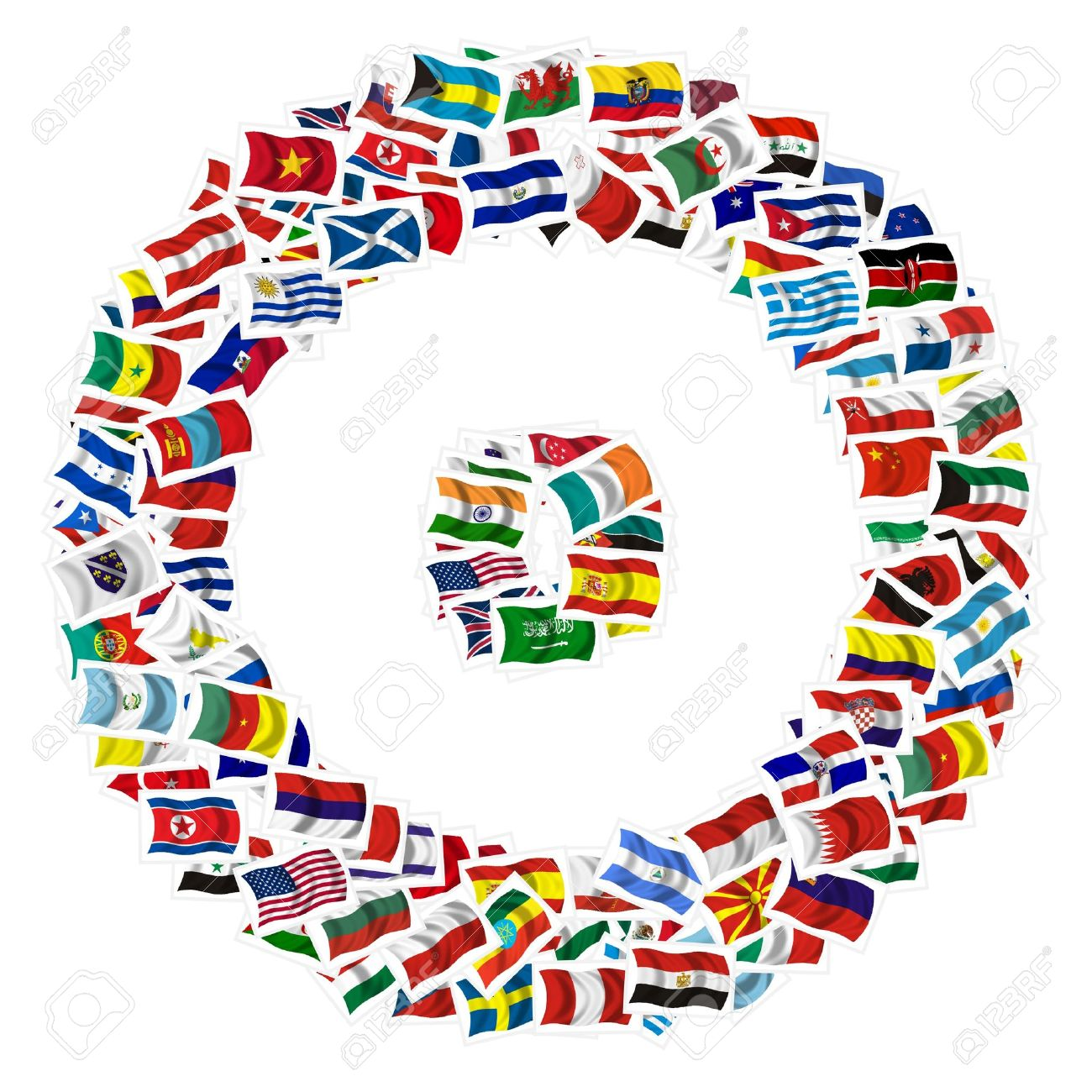 Collection of Flags on a withe background Stock Photo - 6007427
