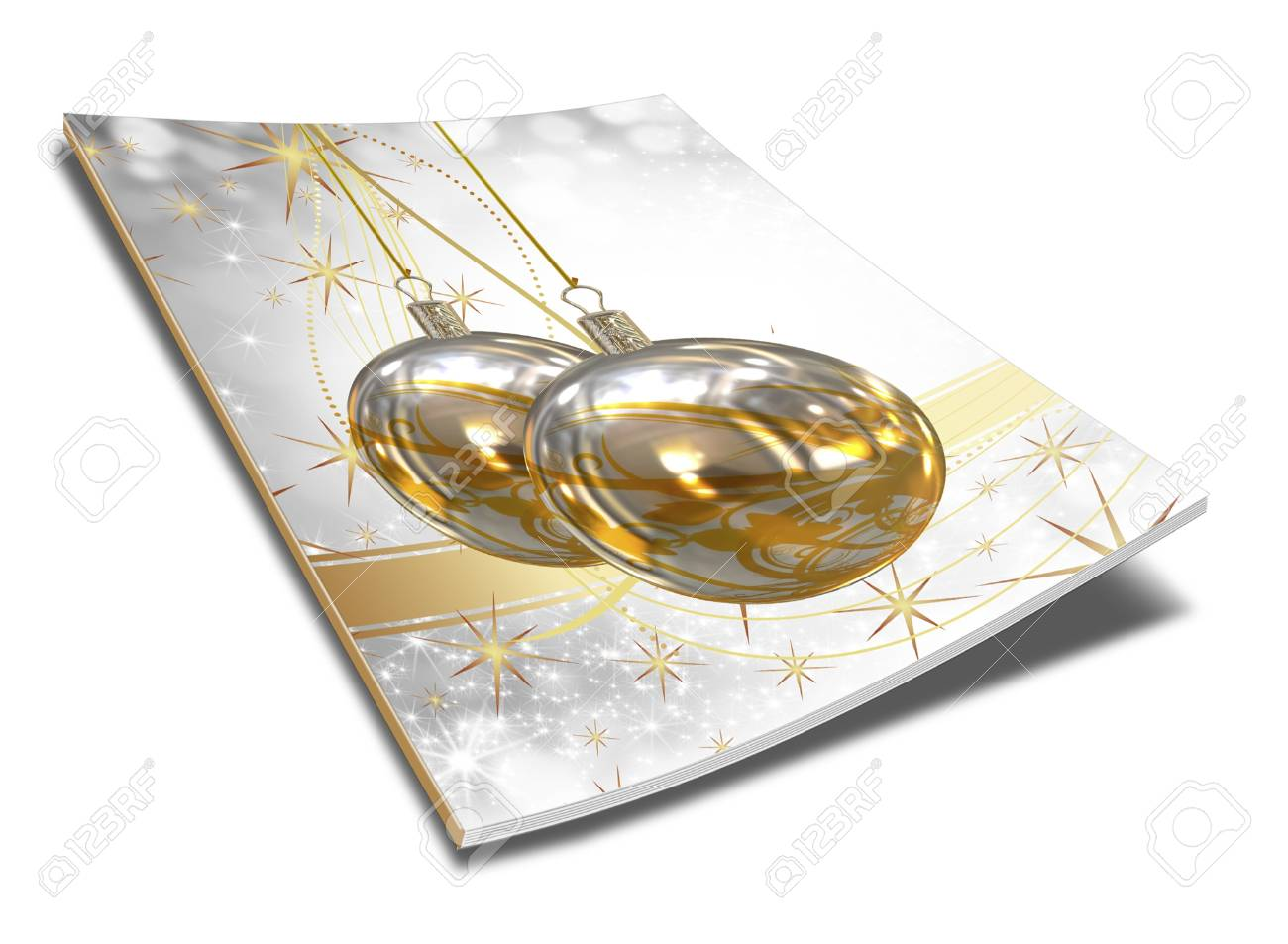 3D Christmas balls picture book Stock Photo - 11208710