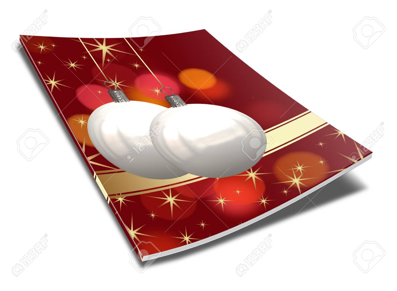 3D Christmas balls picture book Stock Photo - 11208672