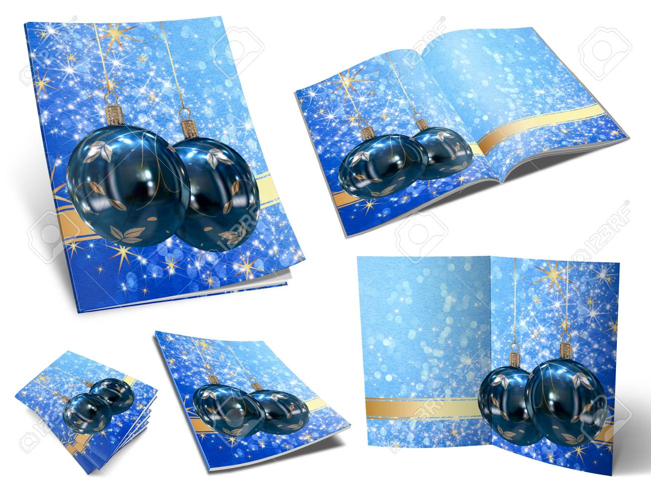 Collection of Christmas balls picture books Stock Photo - 11208728