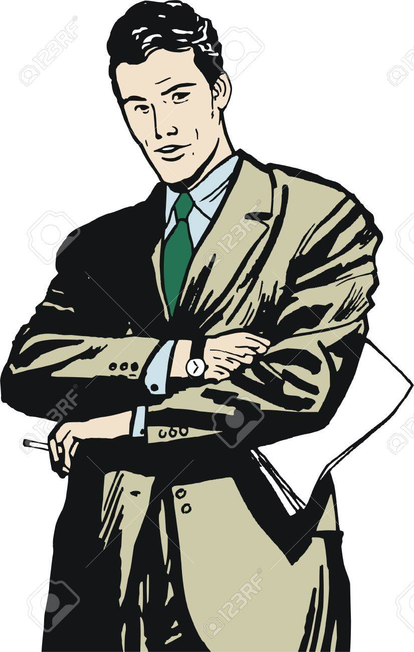 illustration of a businessman, drawn in comic style Stock Photo - 13125599
