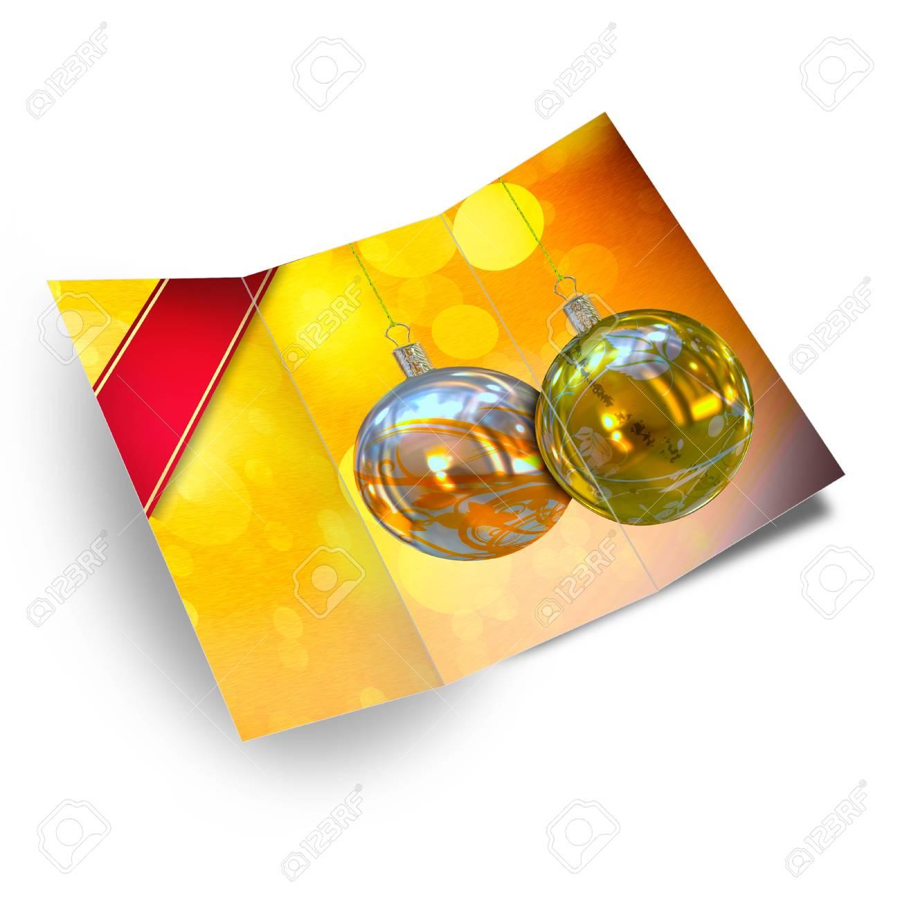Christmas balls card illustration Stock Illustration - 15715929
