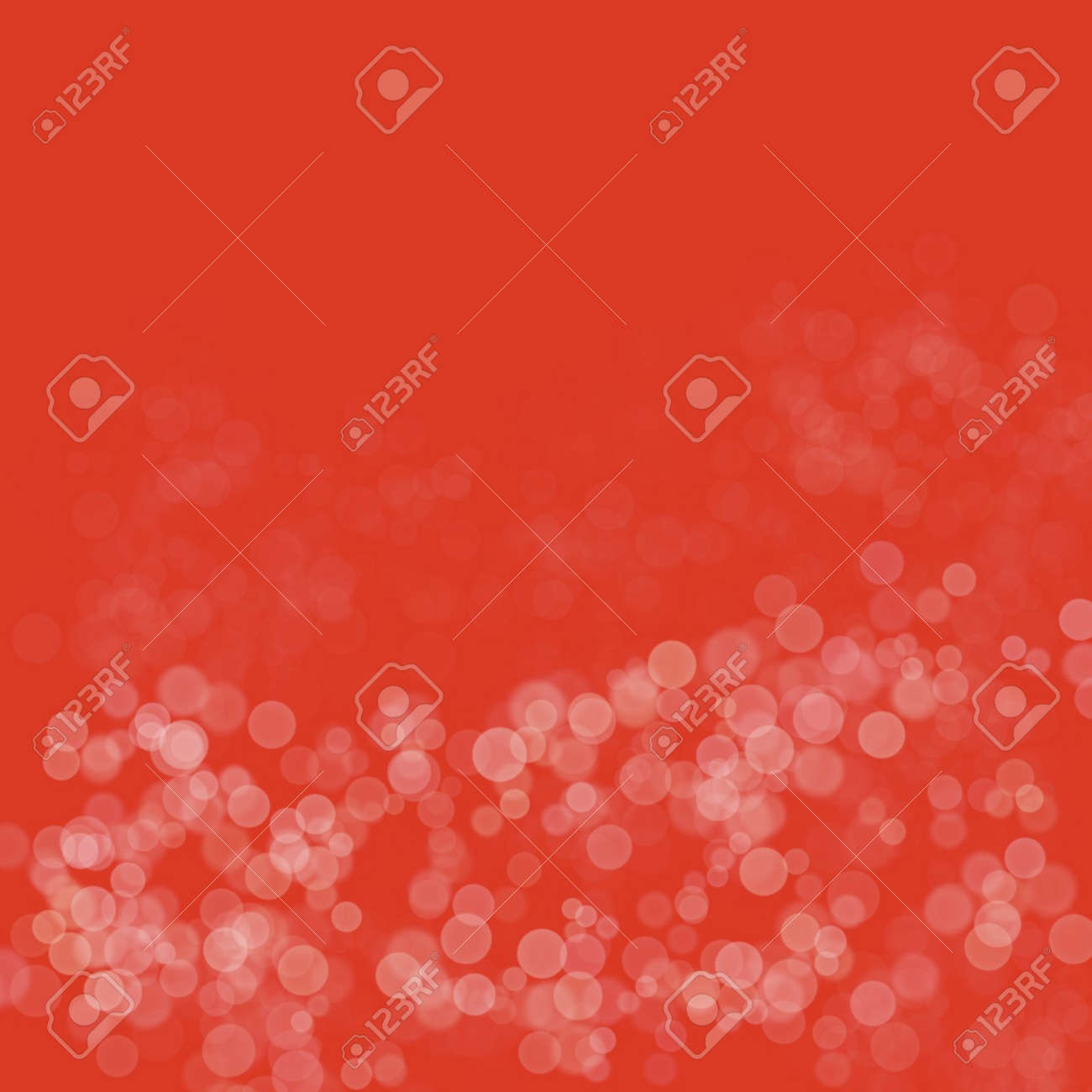 dot soft light white color Paint on red paper background abstract pattern artwork Contemporary arts, Artistic paper, space for frame copy write postcard, bright bokeh - 157168598