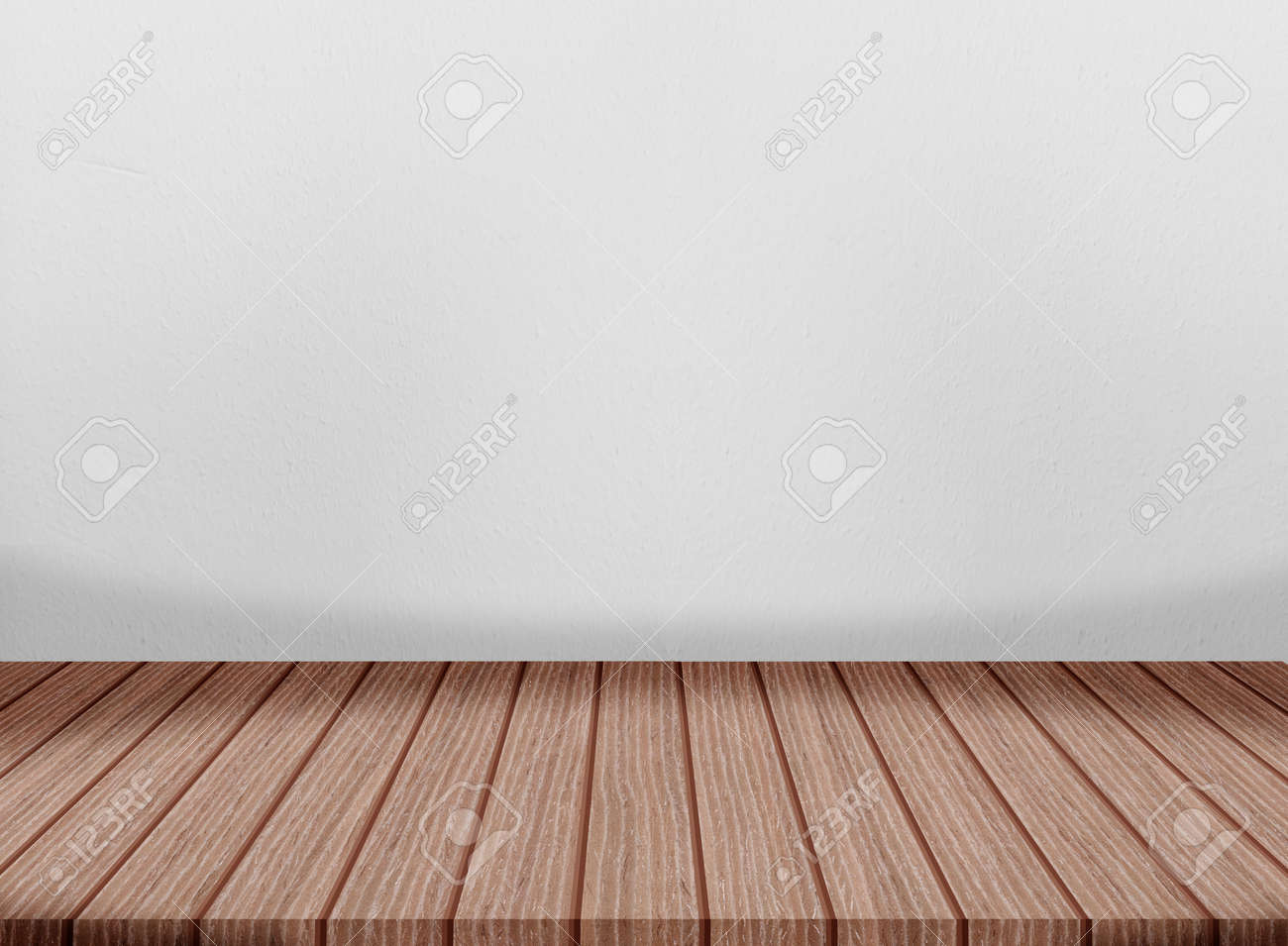 Wooden floor cement wall gray color smooth surface texture concrete material background detail architect construction - 167596574