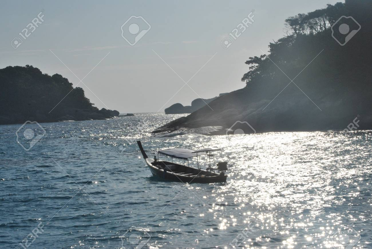 Boat in Similan Islands, Thailand Stock Photo - 12029360