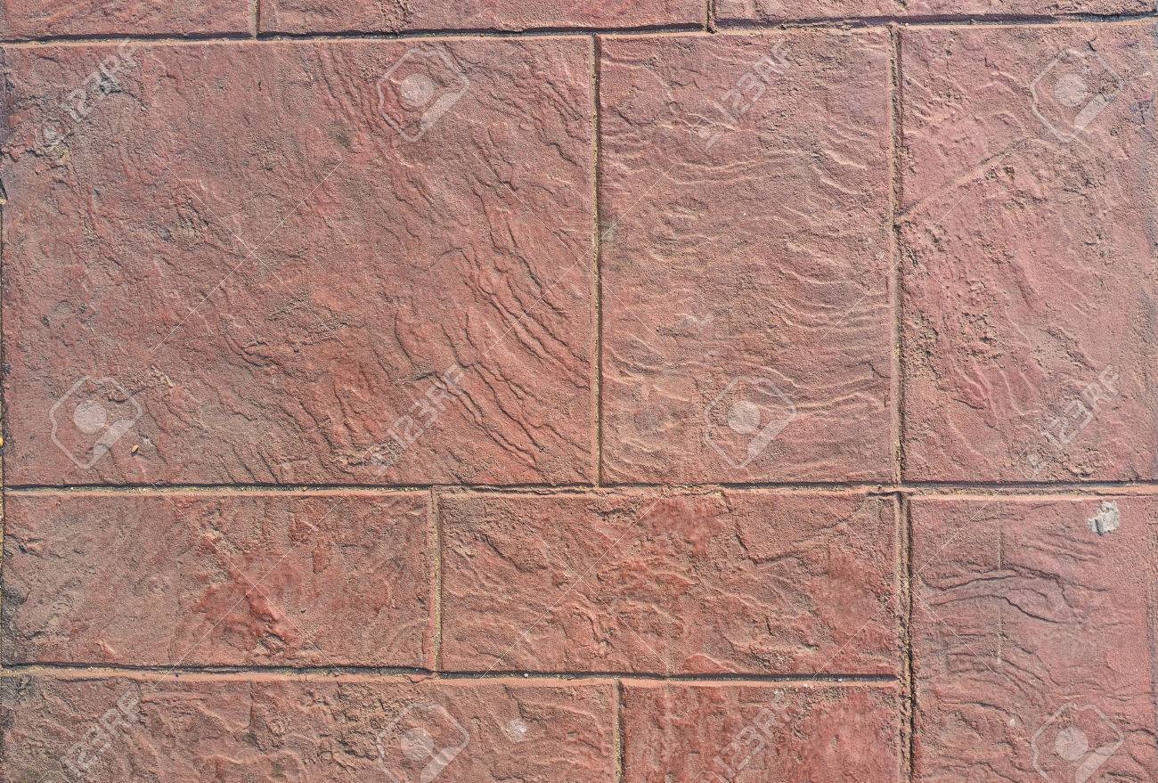 ground floor tile texture in red color