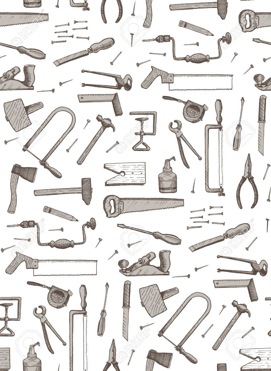 tools seamless vector pattern Stock Vector - 23296564