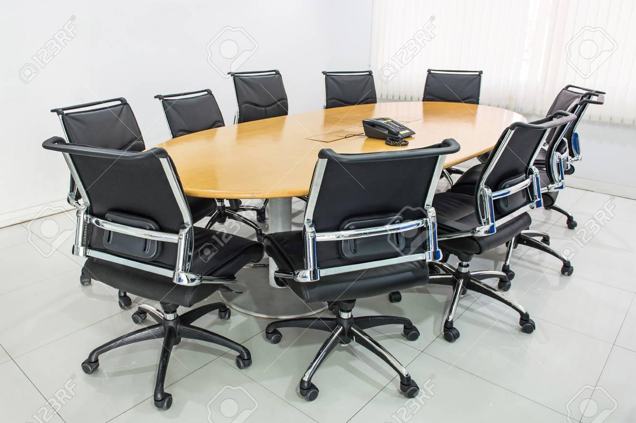 ミーティング テーブル、会議テーブル、会議室で黒い毛 ロイヤリティー