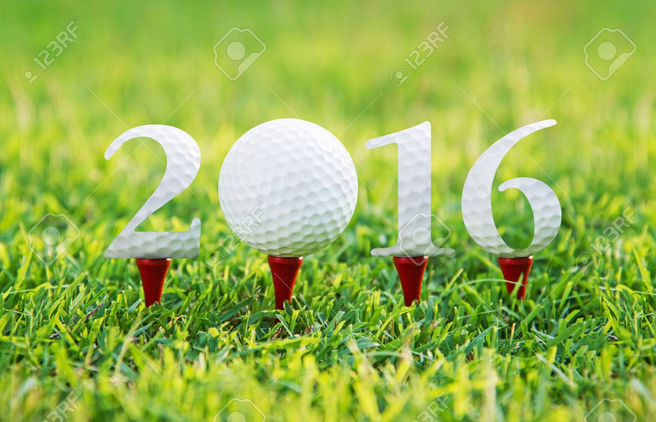Happy new year 2016, Golf sport conceptual image ,the same concept available for 2015,2017,and 2018 year. Stock Photo - 32463749