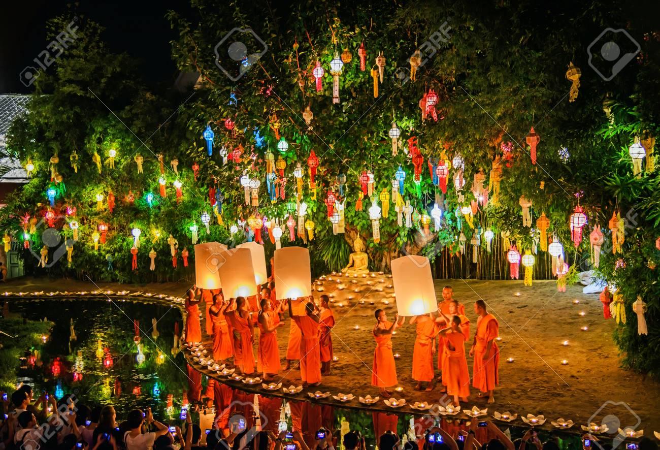 Chiang Mai Thailand November 7 Loy Krathong Festival In Chiangmai Traditional