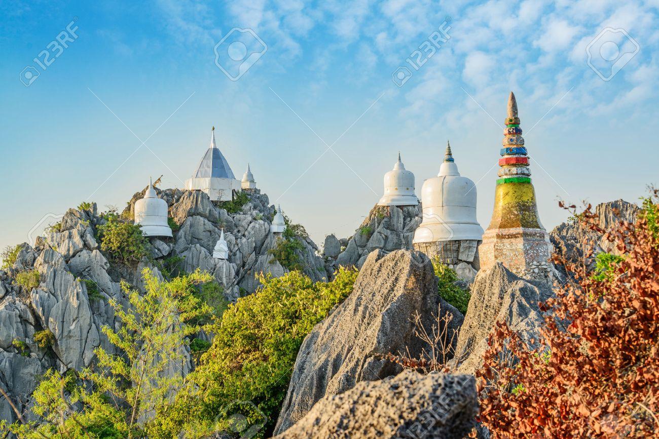Wat Prajomklao Rachanusorn beautiful Thai Temple, Amazing temple on top of mountain at Lampang, North of Thailand. Stock Photo - 37397662