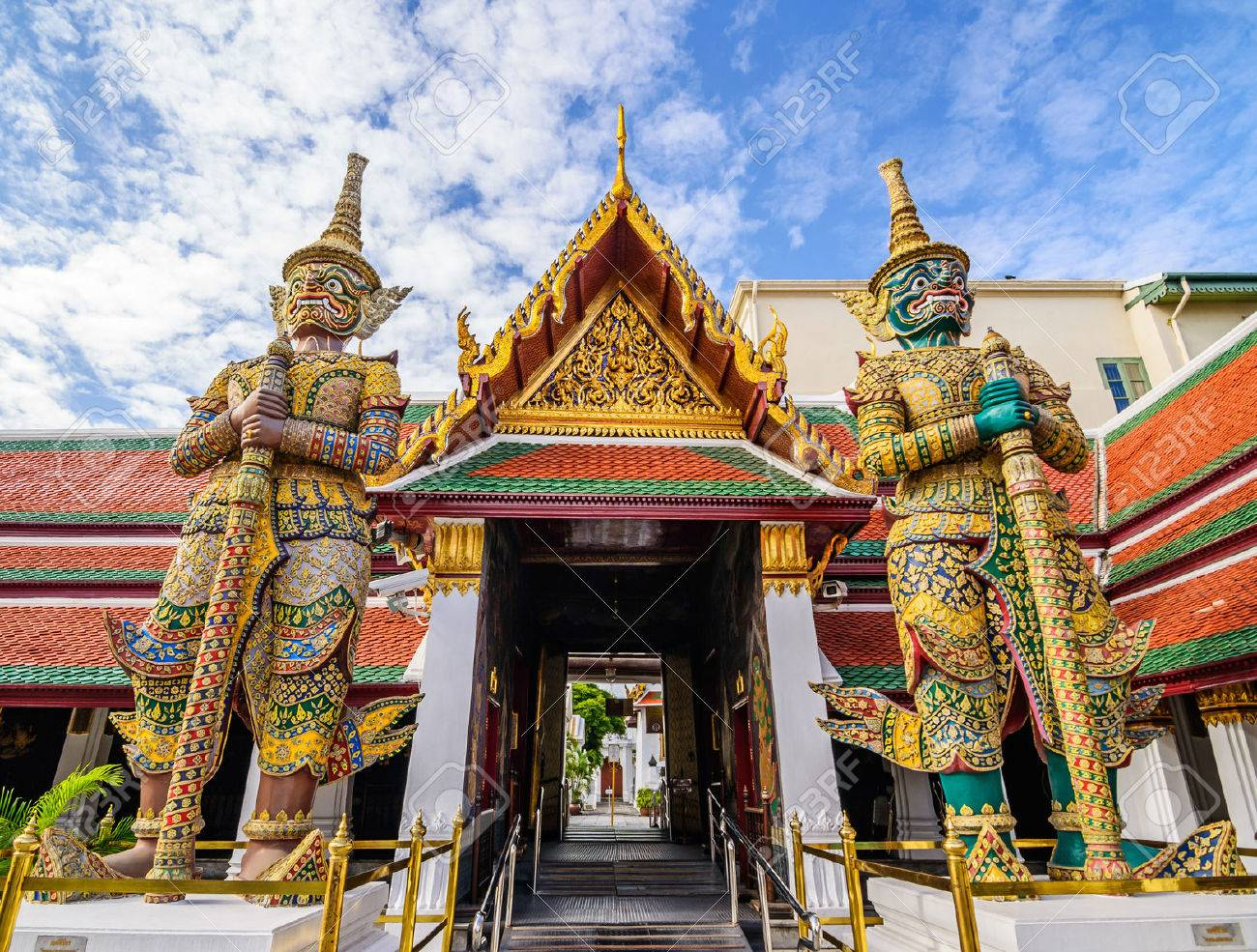 Giant statue at Wat pra kaew, Grand palace ,Bangkok,Thailand. Stock Photo - 43863838