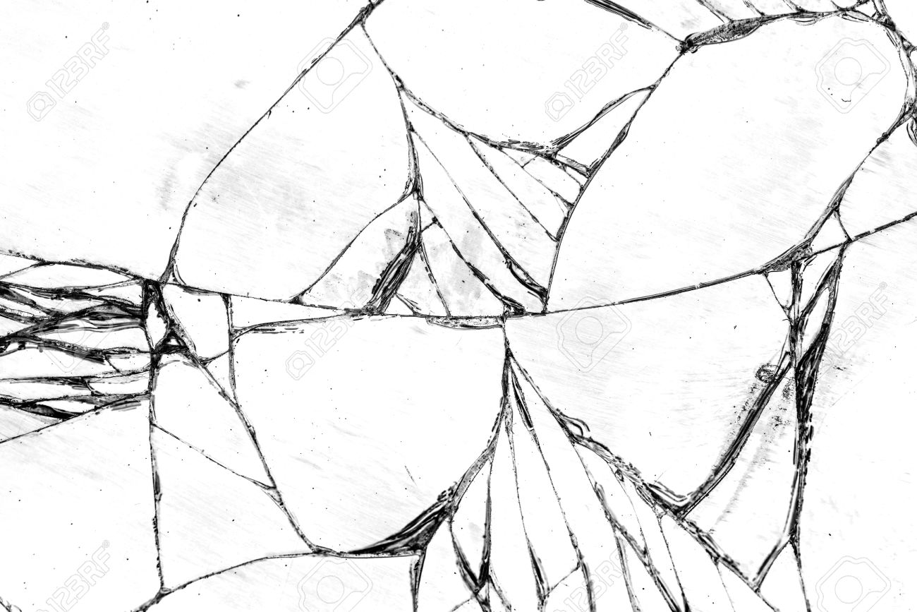 Broken glass texture, cracked in the glass. Stock Photo - 48158710