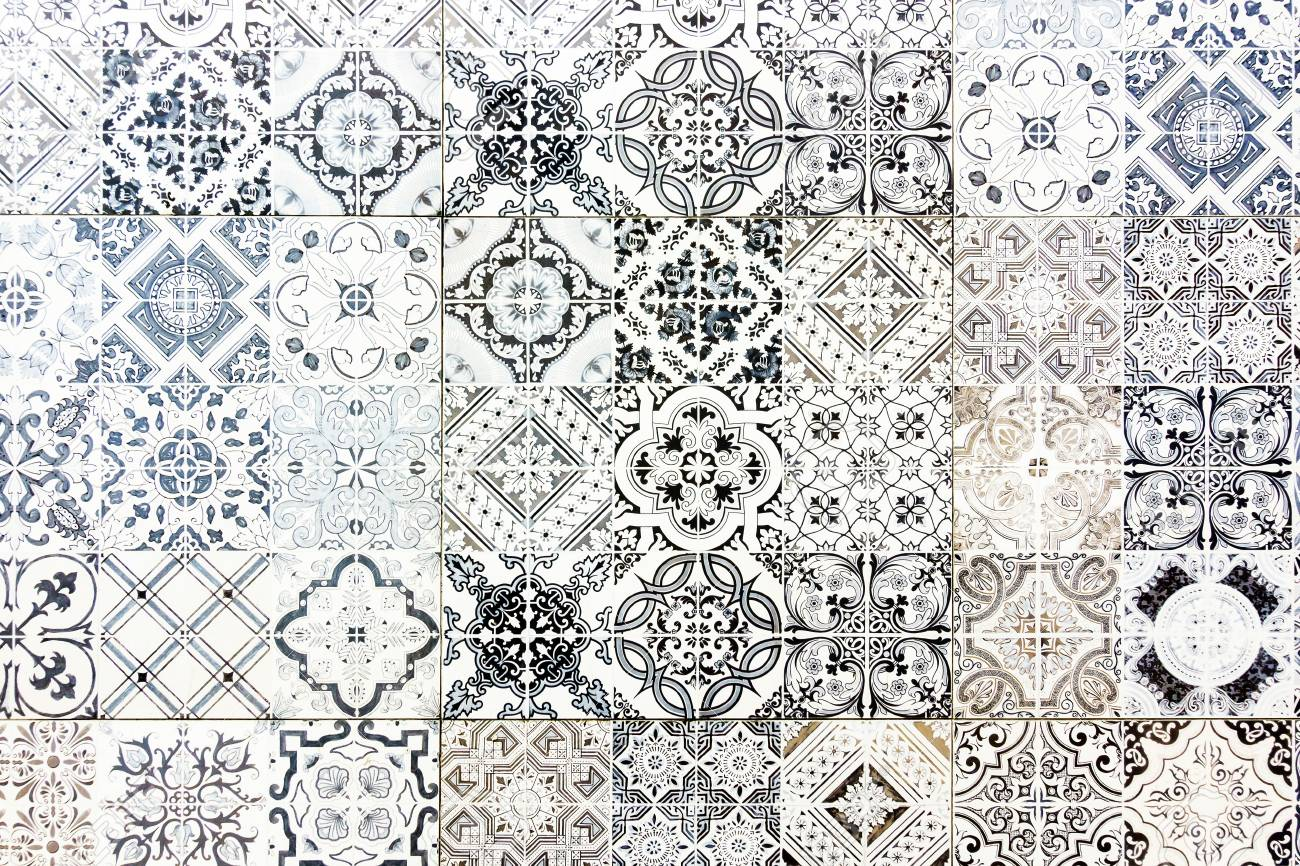 Vintage Ceramic Tiles Wall Decoration Vintage Floor Tiles Stock Photo Picture And Royalty Free Image Image 74207444