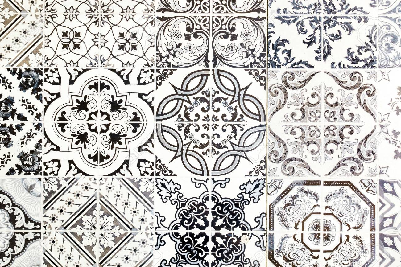 Vintage Ceramic Tiles Wall Decoration Vintage Floor Tiles Stock Photo Picture And Royalty Free Image Image 74123901