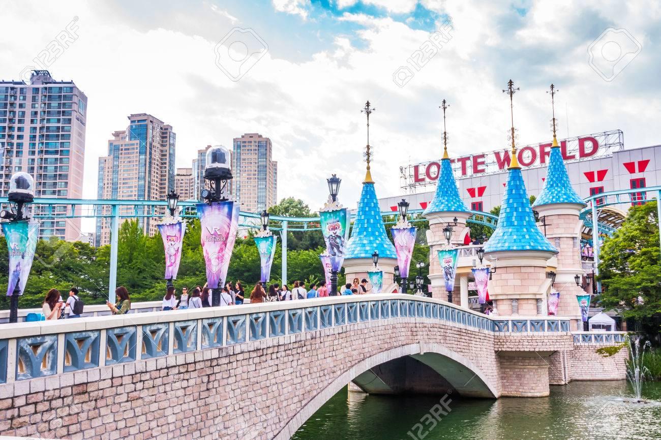 Seoul Korea May 26 2017 Lotte World Amusement Theme Park