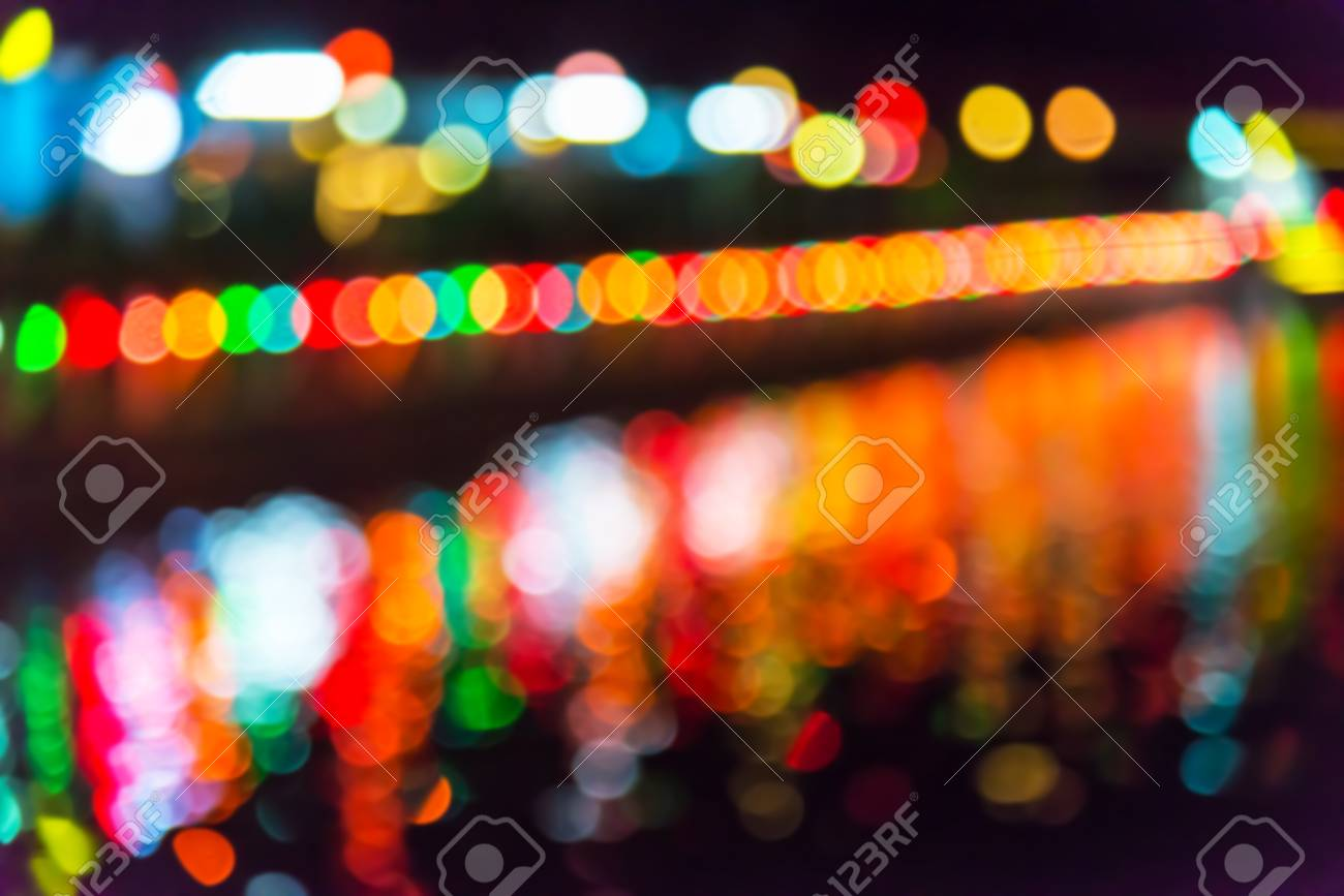 Christmas Lights Background.Abstract Holiday Background Defocused Christmas Lights Background