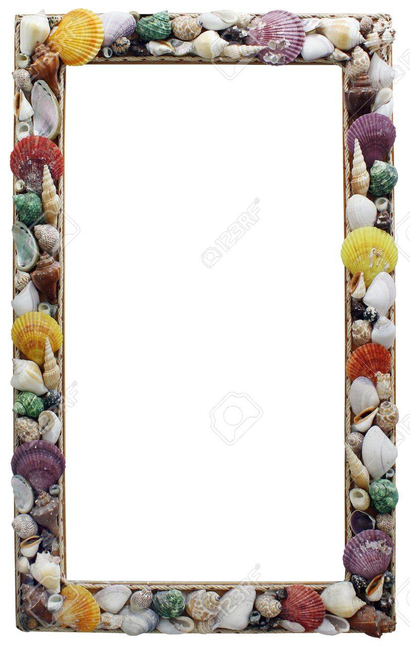 Frame with many different seashells, Place your own object or tekst in the frame Stock Photo - 8352311