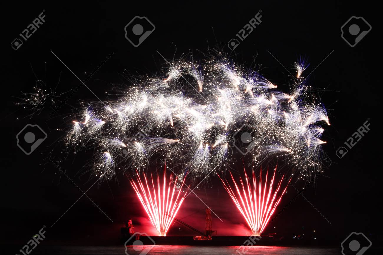 colorful fireworks Stock Photo - 11673210