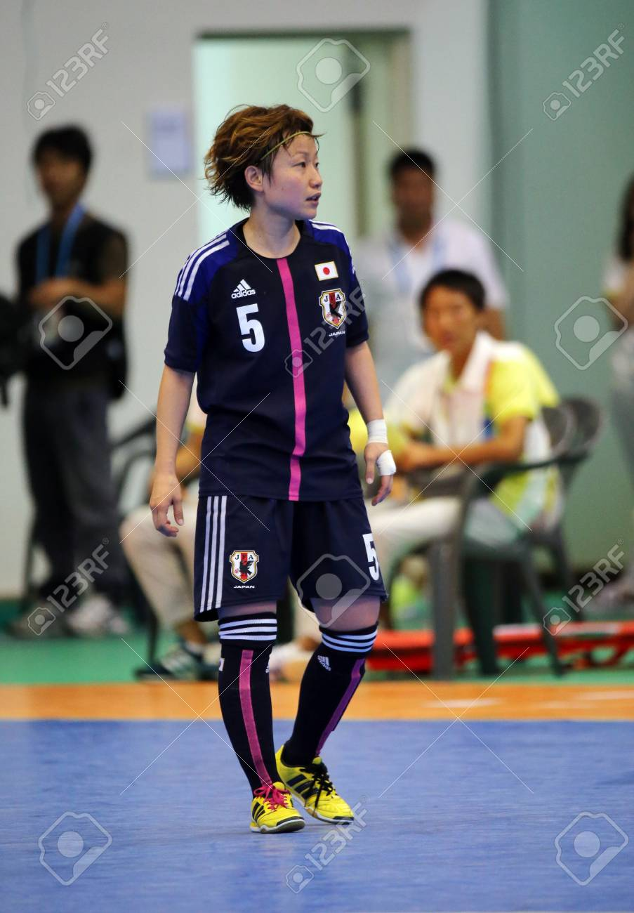 Incheon - July 5 KOIDE Natsumi of Japan participates in an Asian Indoor and Martial Arts Games 2013 at Songdo Global University on July 5, 2013 in Incheon, South Korea  Stock Photo - 20877616