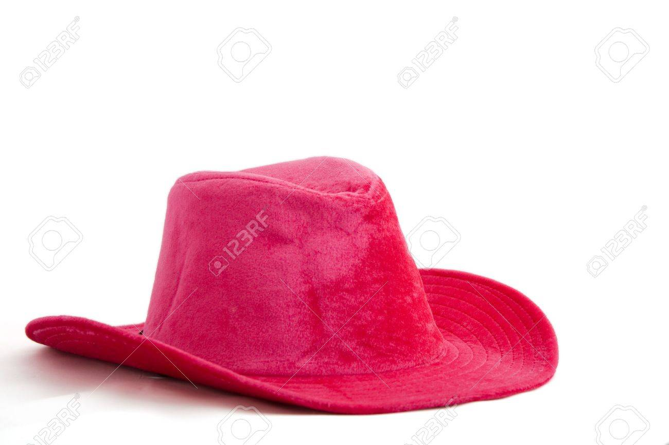 Pink velvet cowboy girl hat isolated on white background Stock Photo -  3106684 d84882e9b29
