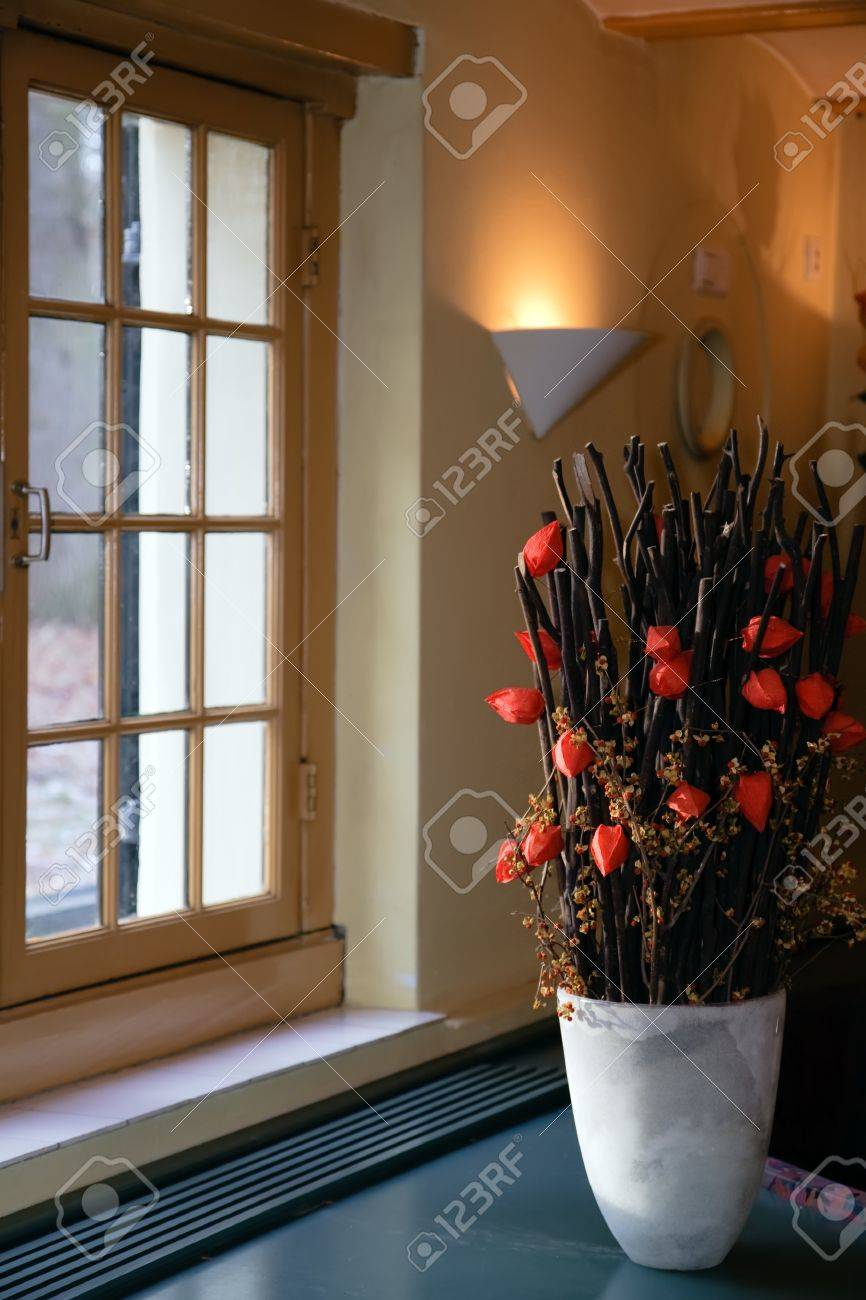Decoration in front of window in antique building Stock Photo - 4145792