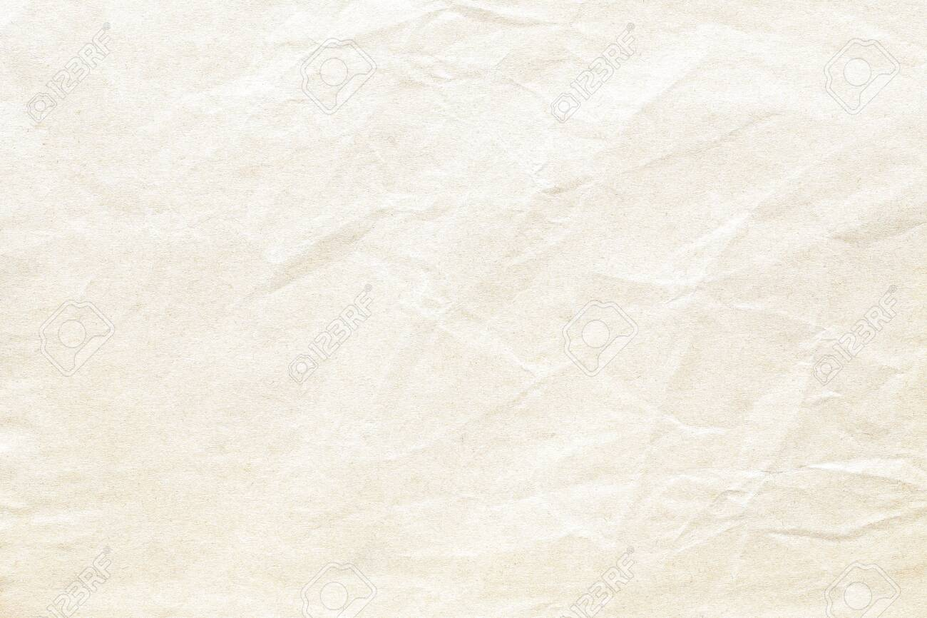Old brown crumpled paper background texture - 128035089