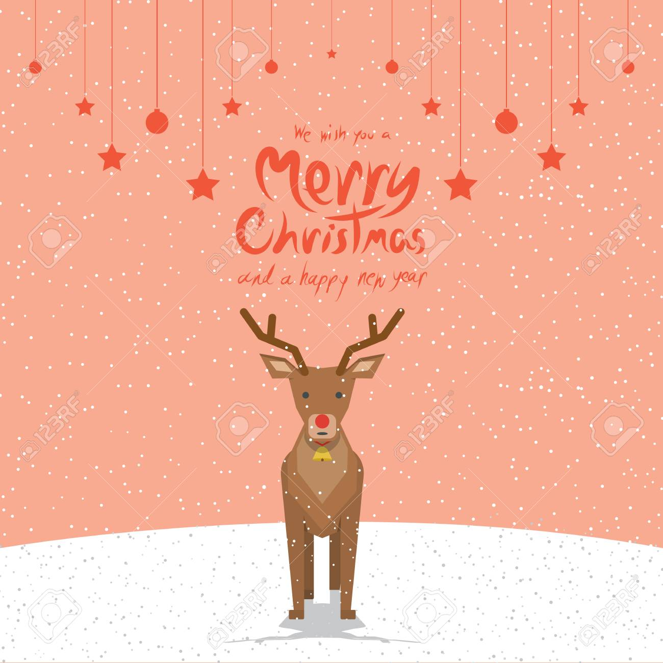 Reindeer (Christmas Cards) Royalty Free Cliparts, Vectors, And Stock ...