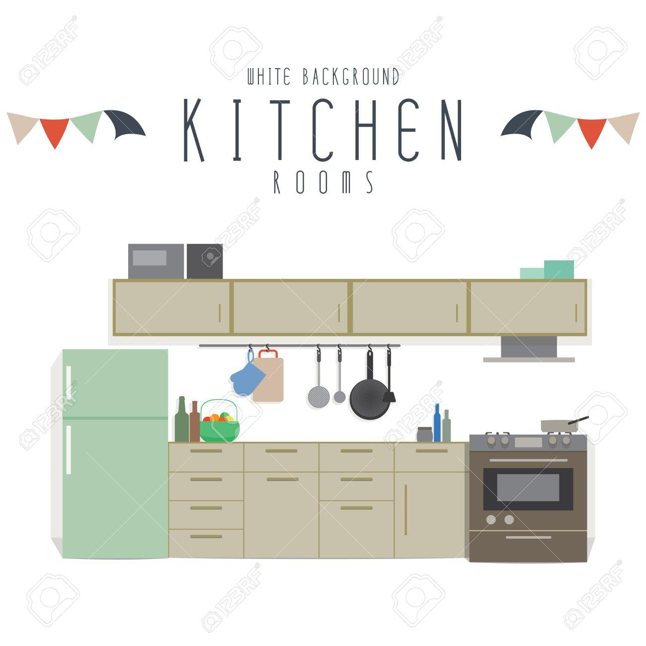 Kitchen vector illustration of kitchen white background stock vector 36988614