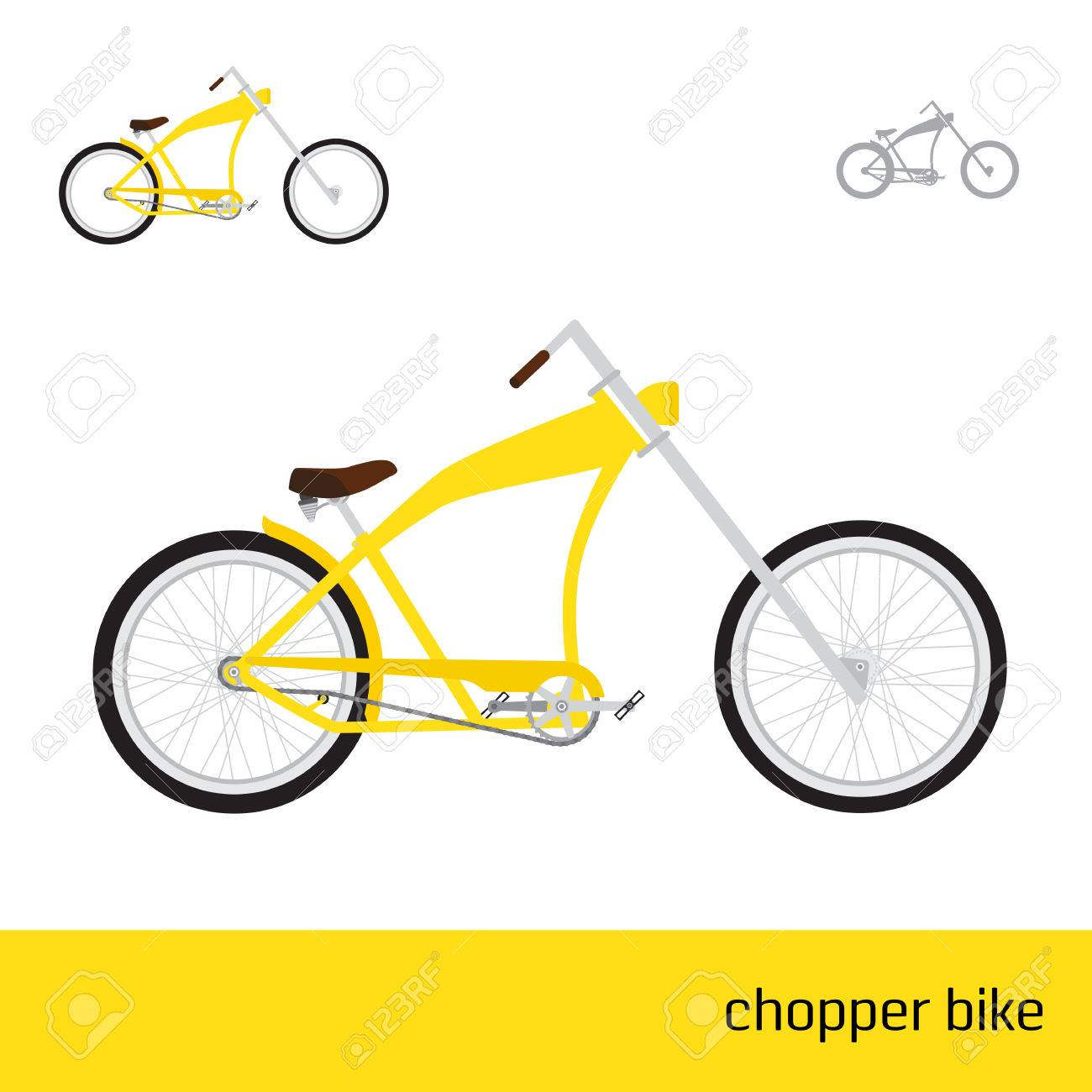 Chopper Bike Are Three Types Of Icons Royalty Free Cliparts, Vectors ...