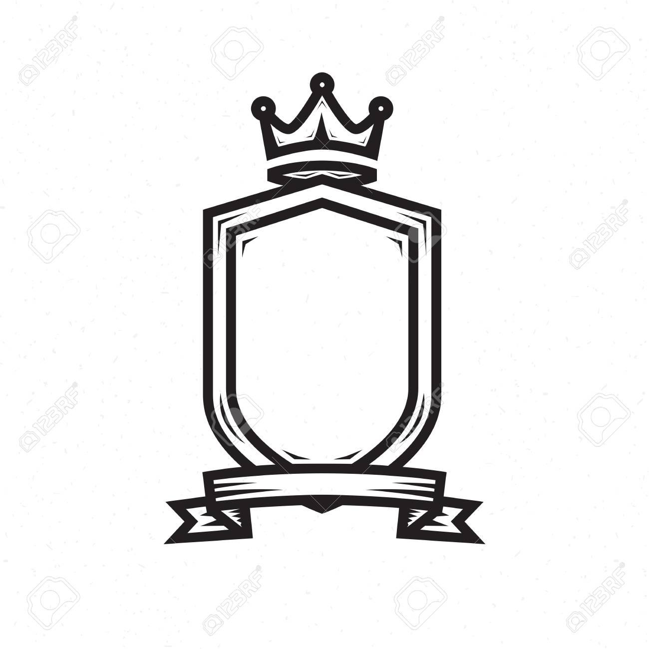 Shield Template For The Heraldic Logo Stock Vector