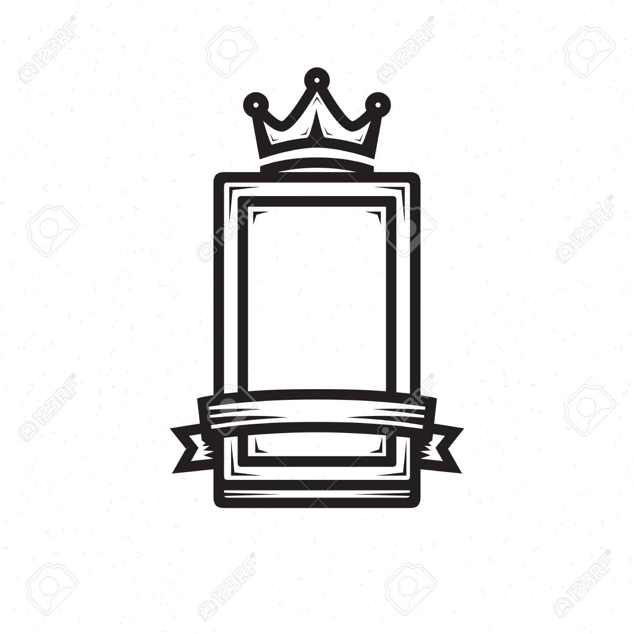 Shield Template For The Heraldic Logo Royalty Free Cliparts, Vectors ...