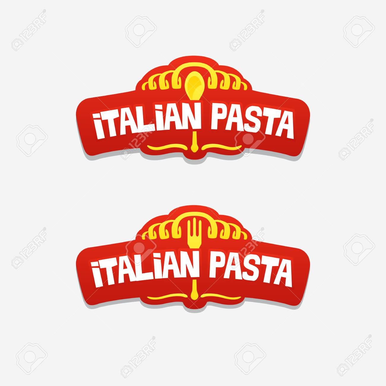 Italian Pasta Logo For A Cafe Or Restaurant Royalty Free Cliparts Vectors And Stock Illustration Image 100999024