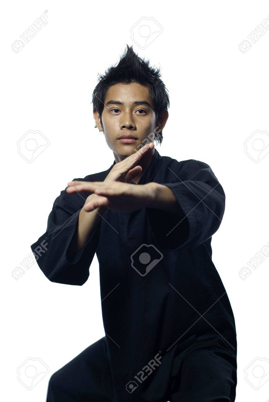 Malay silat martial arts defensive stance - 9544272