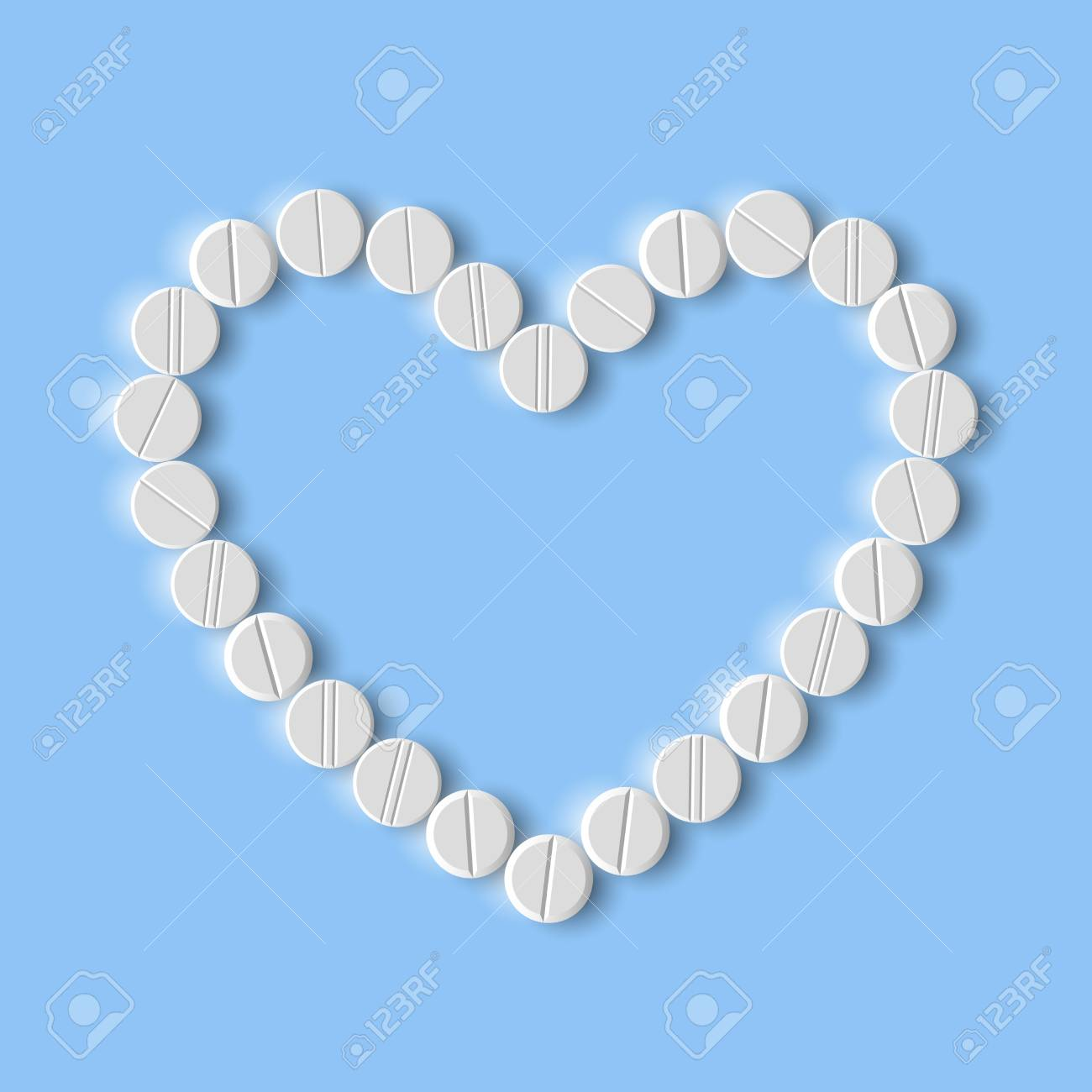 Heart of pills Stock Vector - 18361186